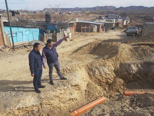 """Al 100 por ciento la instalación de drenaje en """"Santa Elena"""""""