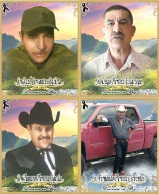 Llegan a la funeraria los cuerpos de los 4 hombres asesinados en Guajolotes