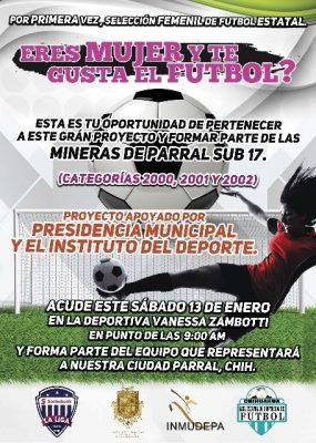 Por primera vez un Presidente Municipal apoya el fútbol Femenil para competición Estatal.