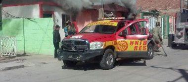 [Galería] Se incendia domicilio de la col. Rubén Aguilar
