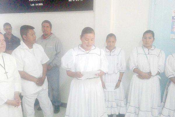Enfermeras Rarámuris en el Hospital Materno