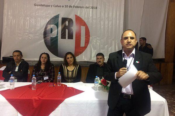 Ratifican al precandidato a la alcaldía en Gudalupe y Calvo