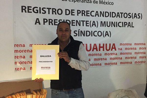 Humberto Villalobos, precandidato a la alcaldía de Balleza por Morena