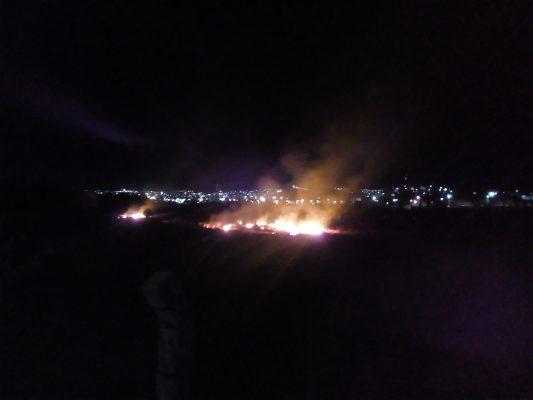 Aparatoso incendio de pasto