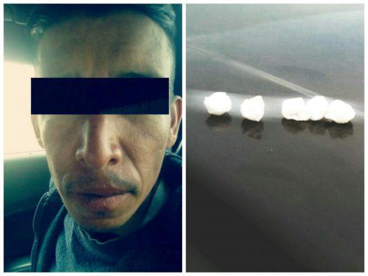 Detiene Gipov a persona en posesión de droga