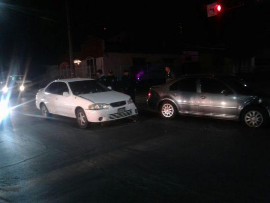 Aparatoso accidente en la avenida Zaragoza cruce con Juan Rangel de Biezma