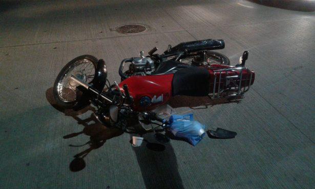 Accidente vial en el cruce de las calles Raúl Soto Reyes y Unión