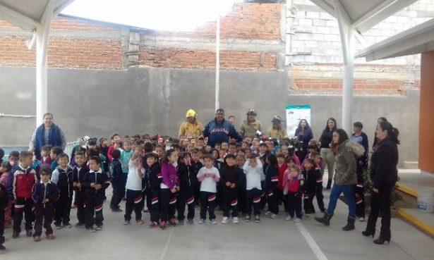 Realizan simulacro de incendio en Jardín de Niños de la colonia Pri