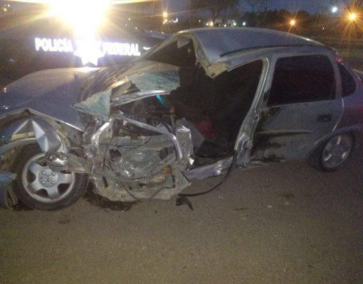 Choque lateral en la carretera Jiménez- Delicias