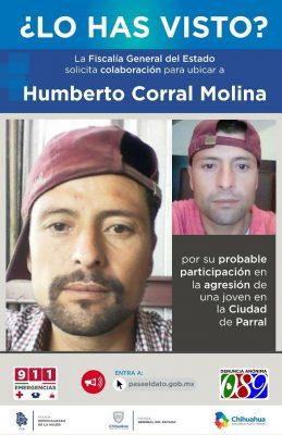 Ya buscan a Humberto Corral en todo el País