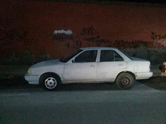 Localizan vehículo con reporte de robo en la calle Cuauhtémoc, del centro de la ciudad