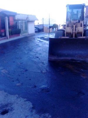 Fuga de agua en la calle Venezuela