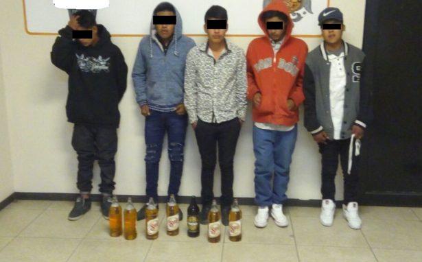 Localizan a cinco menores de edad ingiriendo bebidas embriagantes y fumando marihuana