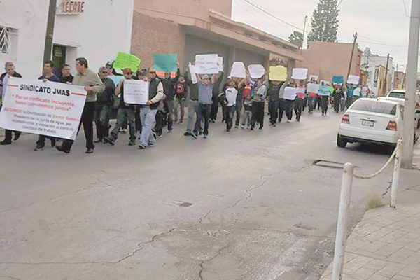 Protesta sindicato de la Jmas