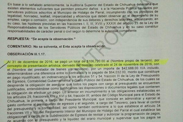 Municipio presenta observaciones por daño patrimonial: Síndico Martínez