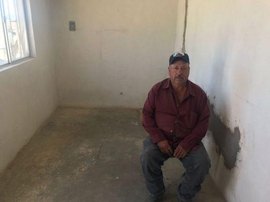 Denuncia desalojo ante la fiscalía, quien fue retirado de la casa donde vivía en la col. Parral Vive