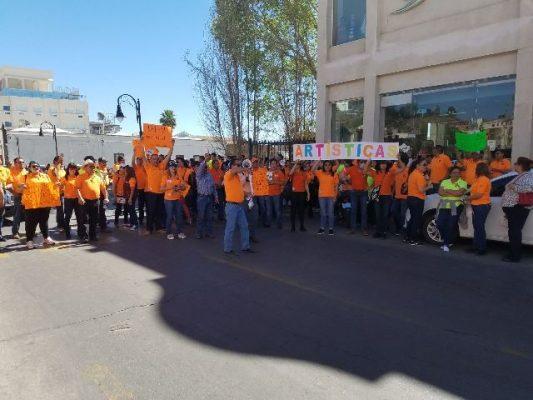 [VIDEO] Cierran calle 20 de Noviembre maestros manifestantes