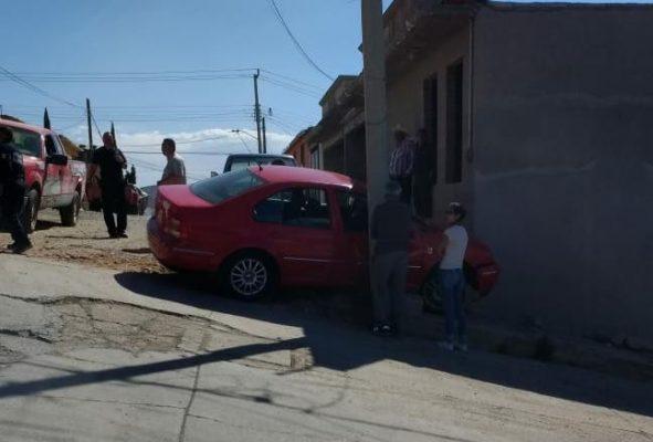 Choca contra domicilio en El Progreso