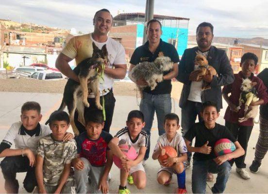 Llevan a cabo vacunación de mascotas y retas de fútbol en colonia PRI