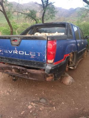 Aseguran 17 vehículos robados en posesión de un grupo criminal que opera en los límites con Sinaloa.