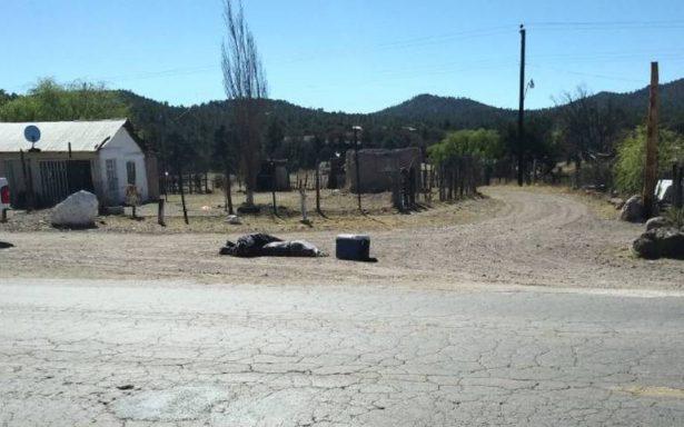 Localizan dos cuerpos y hielera con partes humanas, en la carretera que conduce a San Juanito