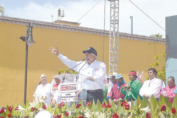 Vengo a decirles que no les fallaré: López Obrador