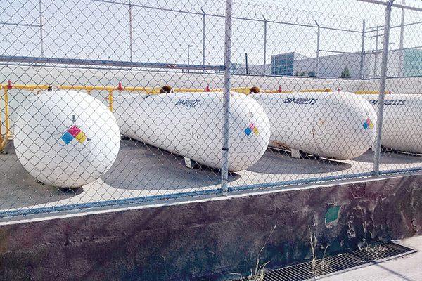 Fuga de gas en 3 tanques del Cereso