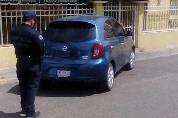 Colisionan dos automotores en  Col. La  Altavista: solo resultó en daños materiales