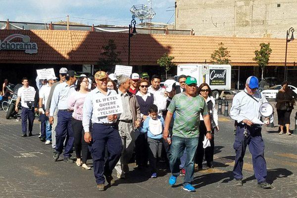 Se manifiestan en contra de la separación funcional de Telmex