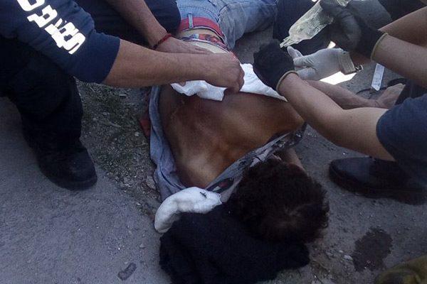 Hombre se electrocutó y cayó desde altura de 2 metros
