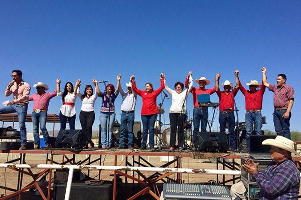 Habitantes del municipio de Valle de Rosario recibieron a Graciela Ortiz