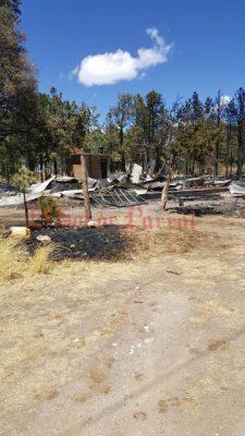 Se incineran dos hogares en el Vergel de familias tarahumaras