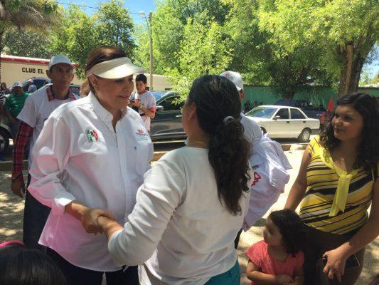 Visita Graciela Ortíz el municipio de Allende