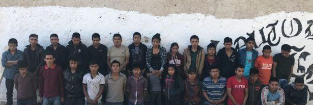 Rescatan a 30 indocumentados Guatemaltecos en Jiménez