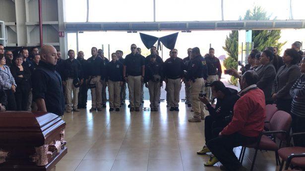 Rinden homenaje a los comandantes victimados en la via corta a la altura de El Velduque