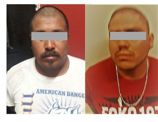 Detienen a dos sujetos en posesión de 24 sobres de cocaína