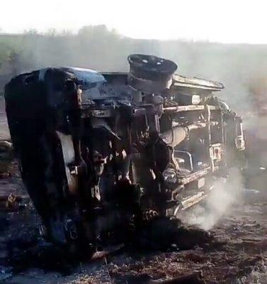 Cuatro vehículos dañados en balacera
