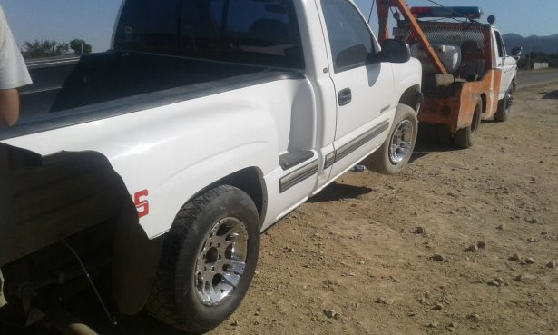 Accidente cerca de Santiaguito en rúa Parral-Santa Barbara
