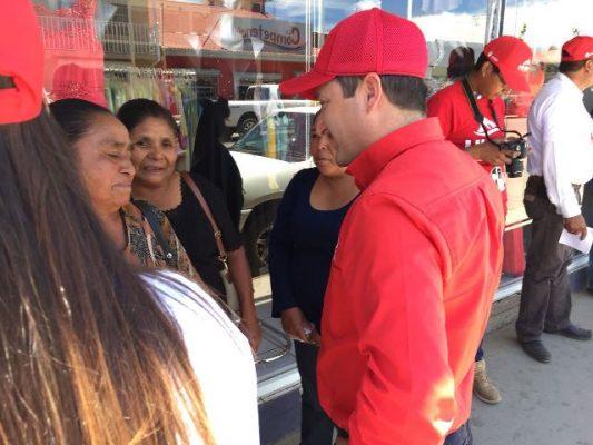 Inicia campaña Hugo Aguirre con visitas domiciliarias