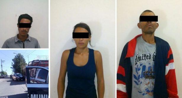 Tras drogarse en vía publica y causar molestias fueron detenidos dos hombres y una mujer