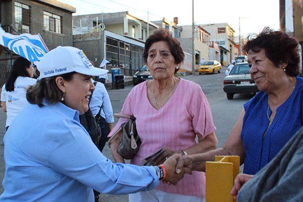 Col. Altavista apoya a la candidata a diputada Ángeles Gutiérrez