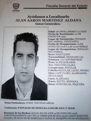 Reportan a un joven parralense desaparecido