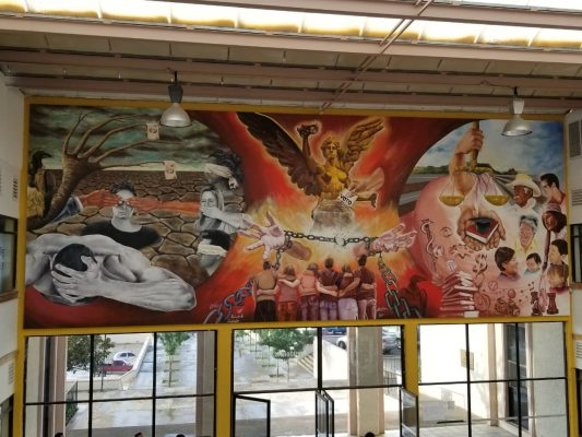 "(VIDEO-GALERIA) Develan el mural ""La Victoria de Parral"""