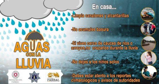 Continuarán las lluvias en Parral este martes