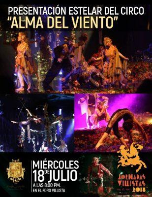 Hoy se presenta el Circo Alma del Viento en el Foro Villista, entrada gratuita