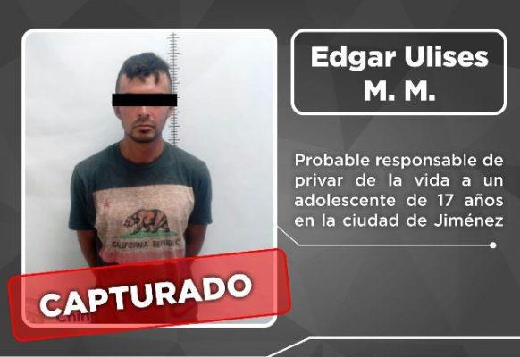 Detienen a presunto homicida en Jiménez