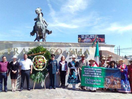 [Vídeo y Galería] Conmemoran el 95 aniversario luctuoso de Francisco Villa en la glorieta del general