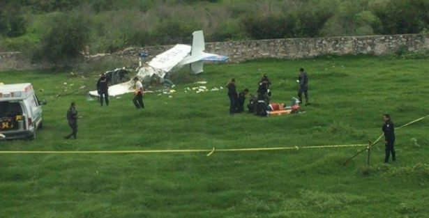 Se desploma supuestamente una avioneta a la altura del club campestre