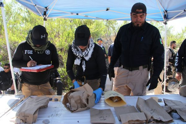 Se logró la recolección de varios indicios, entre los que destacaron restos humanos en Juárez
