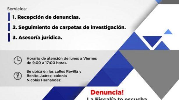 Fiscalía de Distrito Zona Sur apertura oficina del Ministerio Público en Valle de Allende